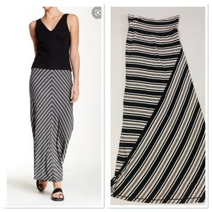 Max Studio Striped Jersey Maxi Skirt size XS